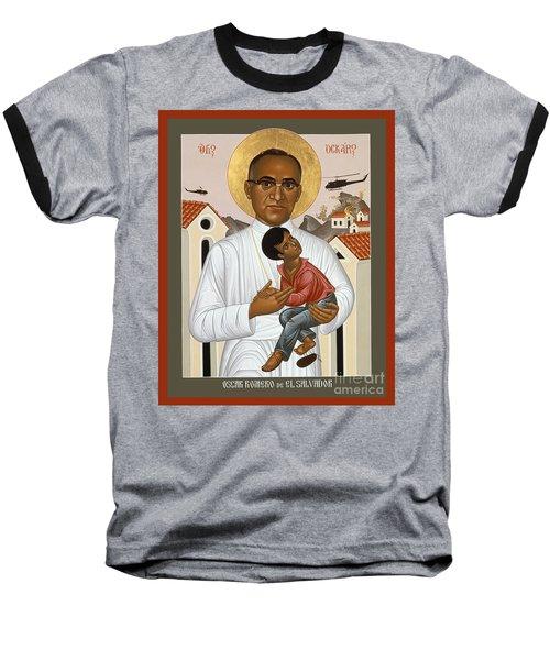 St. Oscar Romero Of El Salvado - Rlosr Baseball T-Shirt