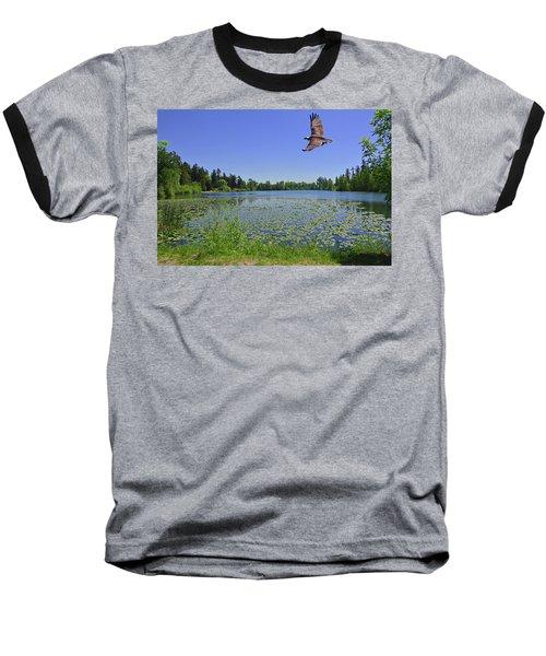 Osprey Fishing At Wapato Lake Baseball T-Shirt