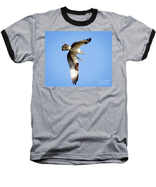 Baseball T-Shirt featuring the photograph Osprey In Flight by Ricky L Jones