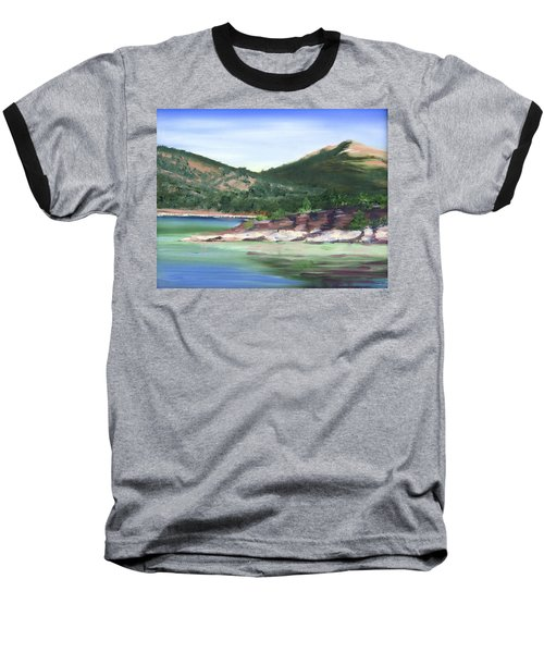 Osprey Island Flaming Gorge Baseball T-Shirt by Jane Autry