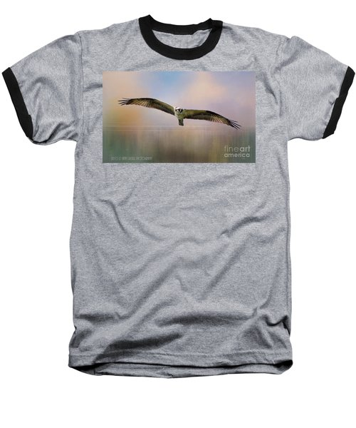 Osprey Over The Shenandoah Baseball T-Shirt by Kathy Russell