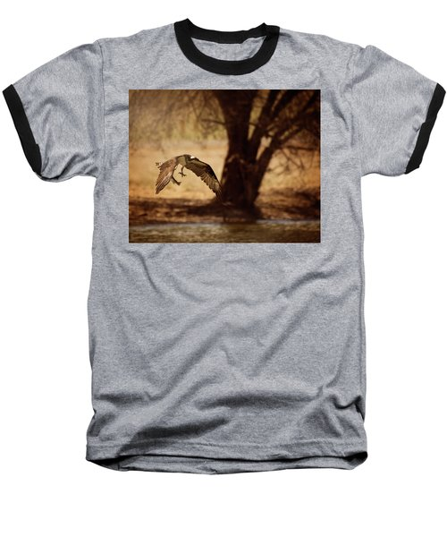Osprey With Lunch Baseball T-Shirt