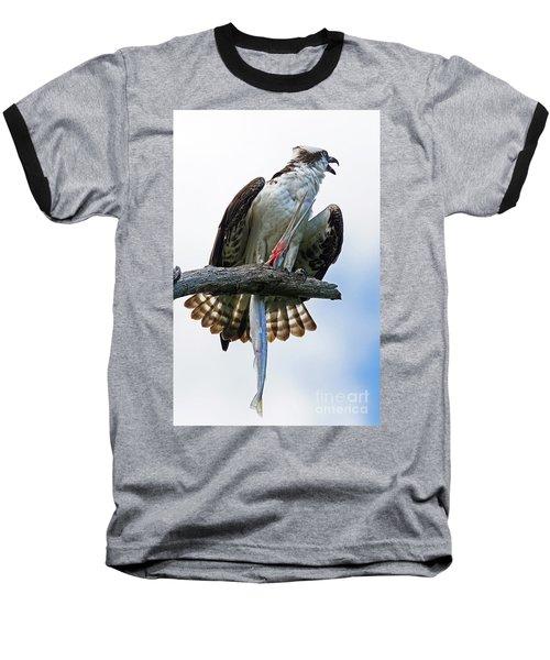 Osprey With Needlefish Baseball T-Shirt