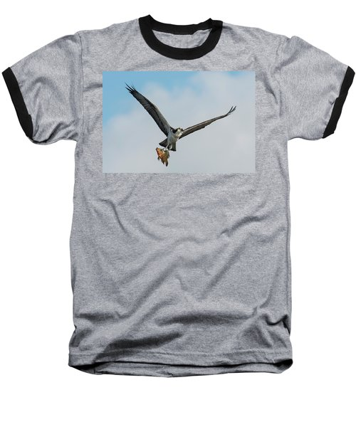 Osprey With Rainbow Bass 1 Baseball T-Shirt