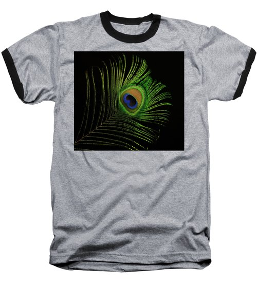 Ostrich Feather Tip Eye Baseball T-Shirt