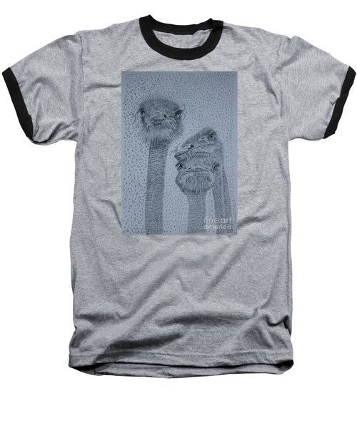 Ostrich Umbrella Baseball T-Shirt