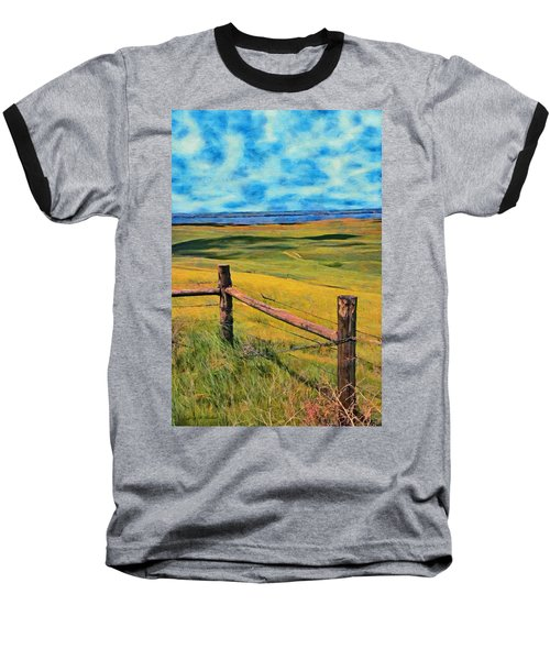 Baseball T-Shirt featuring the painting Other Side Of The Fence by Jeff Kolker