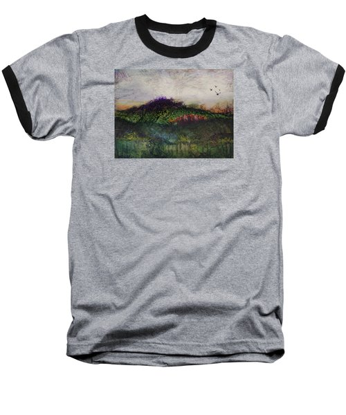 Baseball T-Shirt featuring the painting Other World 1 by Ron Richard Baviello