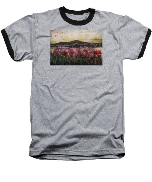 Baseball T-Shirt featuring the painting Other World 3 by Ron Richard Baviello