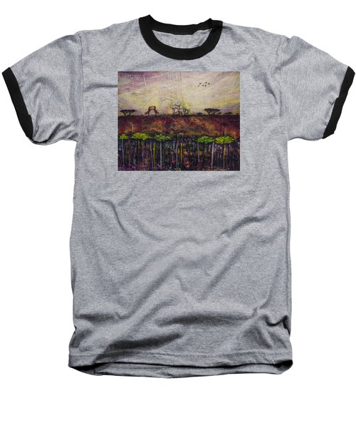 Baseball T-Shirt featuring the painting Other World 4 by Ron Richard Baviello