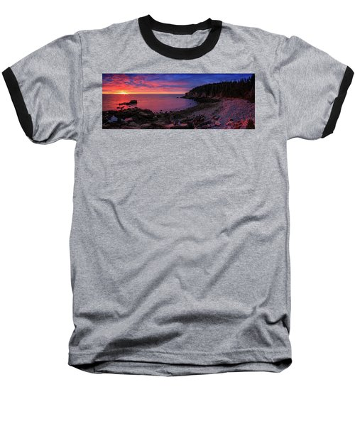 Baseball T-Shirt featuring the photograph Otter Beach Maine Sunrise  by Emmanuel Panagiotakis