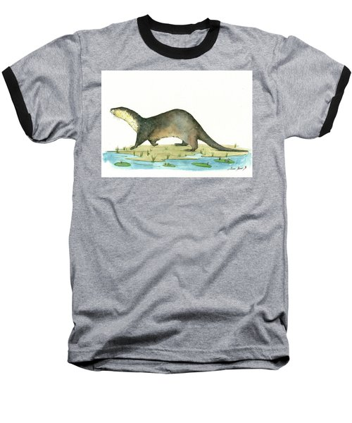 Otter Baseball T-Shirt by Juan Bosco
