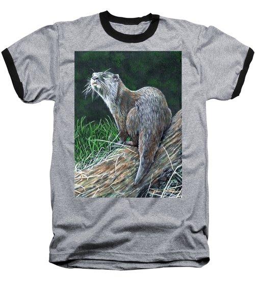 Otter On Branch Baseball T-Shirt