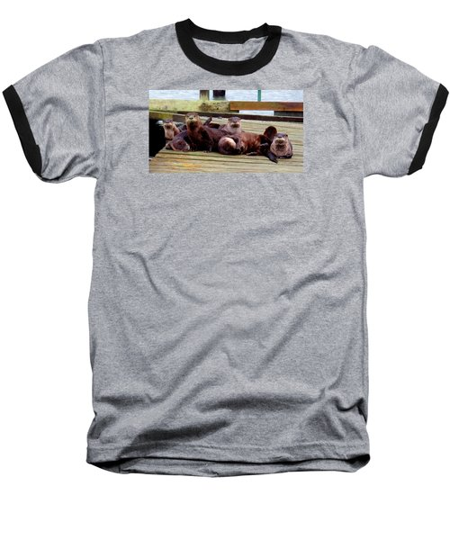 Otter Party Baseball T-Shirt