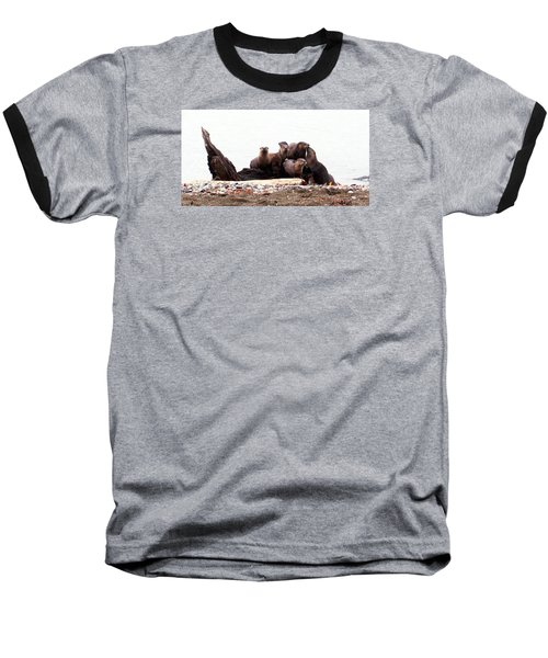 Otters In Boulevard Park Baseball T-Shirt