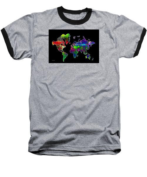 Our Colorful World Baseball T-Shirt by Randi Grace Nilsberg