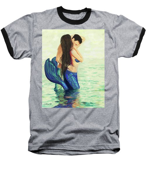 Baseball T-Shirt featuring the painting Our Treasured Love by Leslie Allen