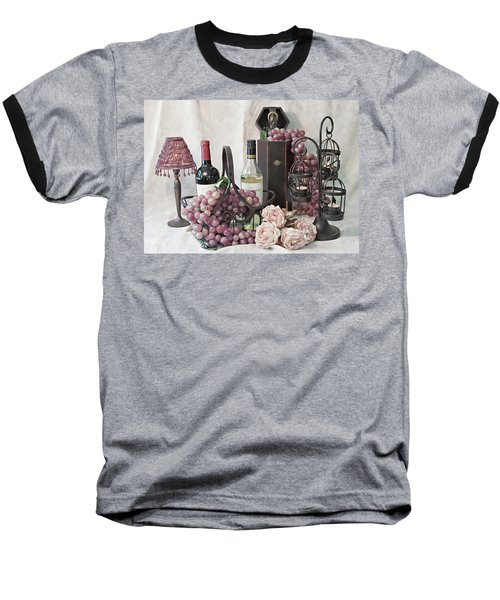 Baseball T-Shirt featuring the photograph Our Wine Cellar by Sherry Hallemeier