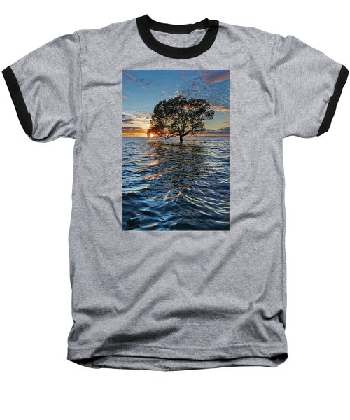 Out At Sea Baseball T-Shirt by Robert Charity