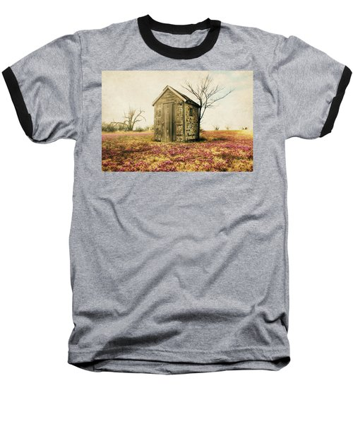 Baseball T-Shirt featuring the photograph Outhouse by Julie Hamilton