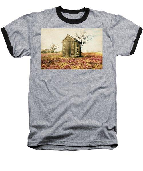 Outhouse Baseball T-Shirt by Julie Hamilton