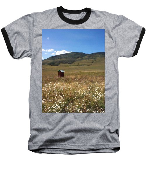 Baseball T-Shirt featuring the photograph Out House by Mary-Lee Sanders