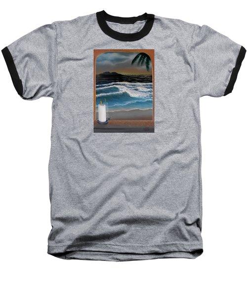 Out My Window-ocean Sunset Baseball T-Shirt