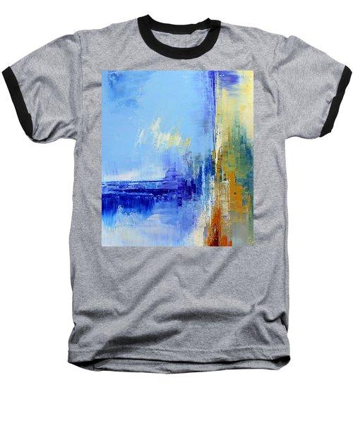 Out Of The Blue Baseball T-Shirt by Tatiana Iliina