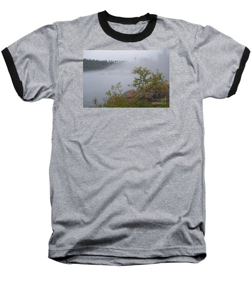Baseball T-Shirt featuring the photograph Out Of The Fog by Sandra Updyke