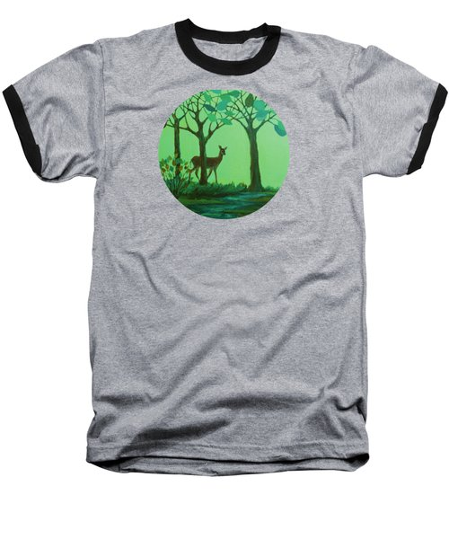 Out Of The Forest Baseball T-Shirt by Mary Wolf