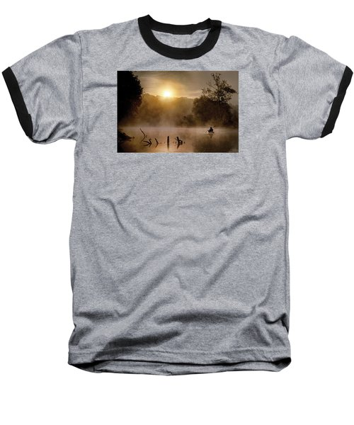 Out Of The Gloom Baseball T-Shirt by Robert Charity