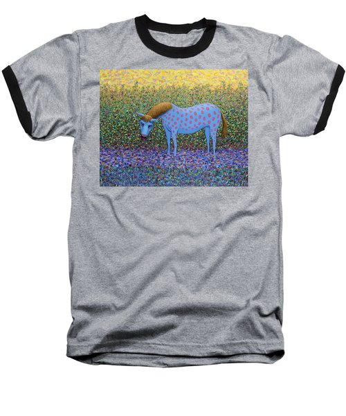 Baseball T-Shirt featuring the painting Out Of The Pasture by James W Johnson