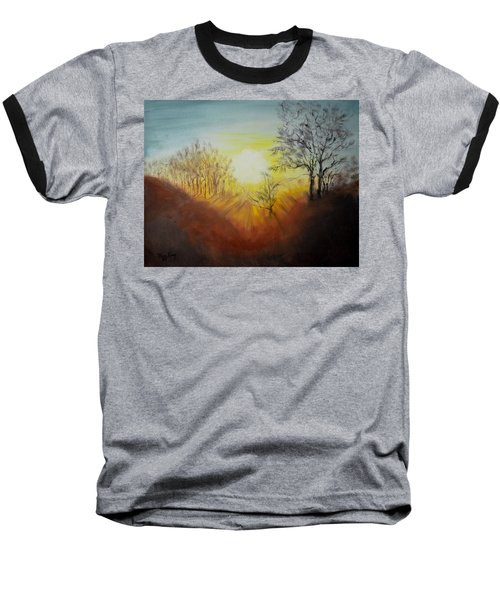 Out Of The Winter Morning Mists - 1 Baseball T-Shirt