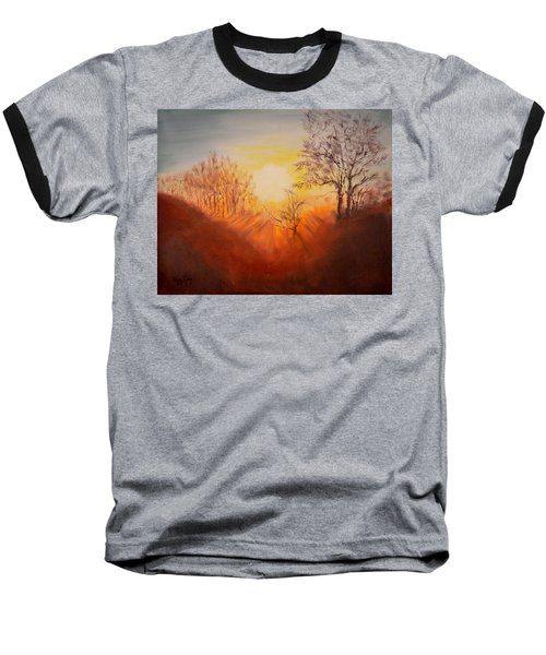 Out Of The Winter Morning Mists - 2 Baseball T-Shirt