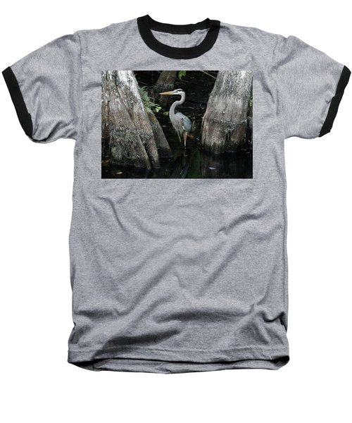 Out Standing In The Swamp Baseball T-Shirt by Lamarre Labadie