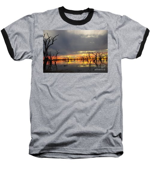 Outback Sunset Baseball T-Shirt by Blair Stuart
