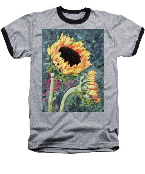 Outdoor Sunflowers Baseball T-Shirt