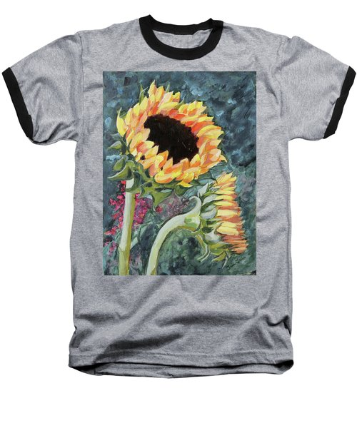 Outdoor Sunflowers Baseball T-Shirt