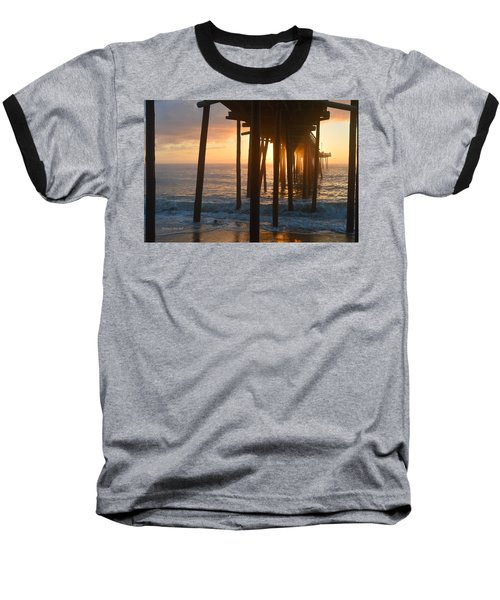 Outer Banks Pier 7/6/18 Baseball T-Shirt