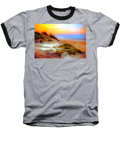 Outer Banks Soft Dune Sunrise Ap Baseball T-Shirt by Dan Carmichael