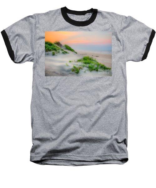 Outer Banks Soft Dune Sunrise Baseball T-Shirt by Dan Carmichael
