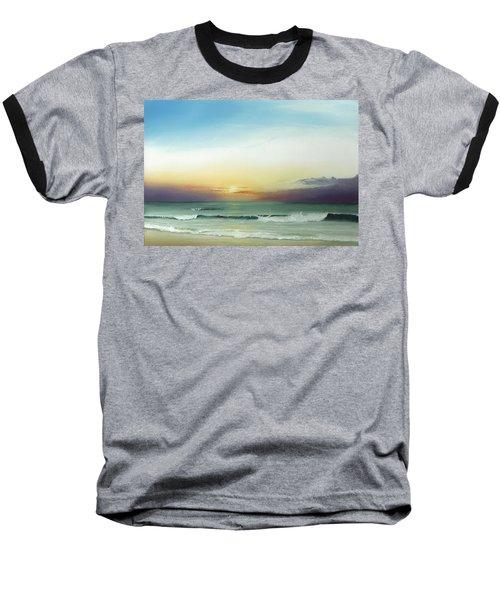 East Coast Sunrise Baseball T-Shirt by Albert Puskaric