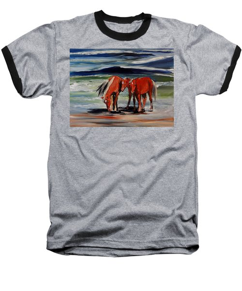Outer Banks Wild Horses Baseball T-Shirt