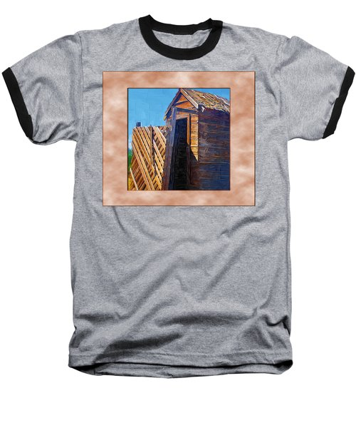 Baseball T-Shirt featuring the photograph Outhouse 2 by Susan Kinney
