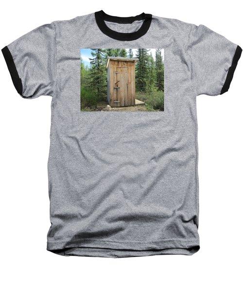 Outhouse  Baseball T-Shirt by Lucinda VanVleck