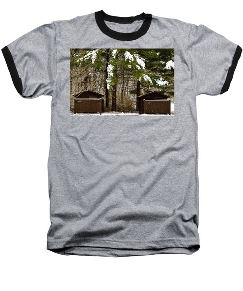 Outhouses In The Cold Baseball T-Shirt