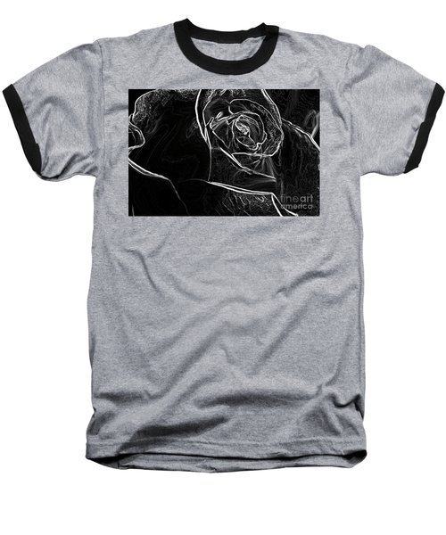 Baseball T-Shirt featuring the photograph Outline Of A Rose by Micah May