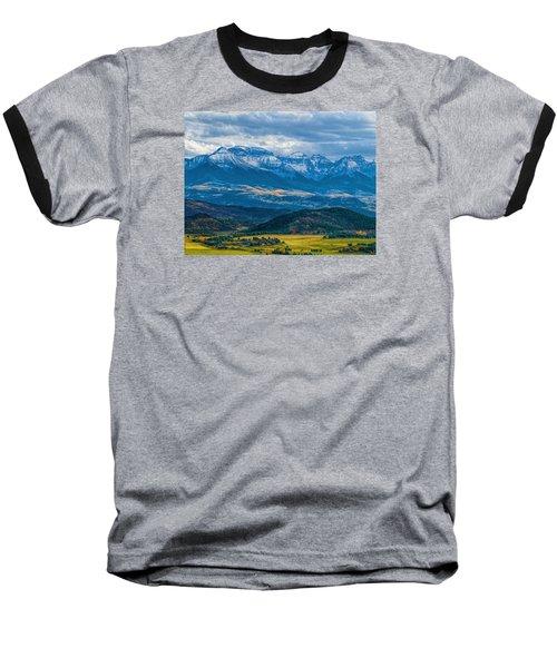 Outside Of Ridgway Baseball T-Shirt by Alana Thrower