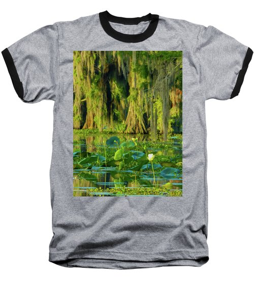 Outstanding Lotus Baseball T-Shirt by Kimo Fernandez