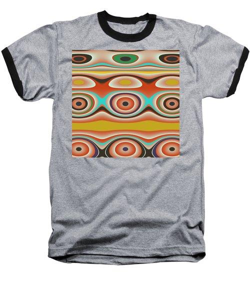 Ovals And Circles Pattern Design Baseball T-Shirt
